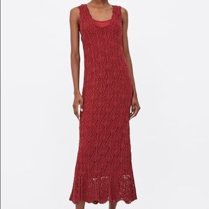 Zara Openwork Knit Dress
